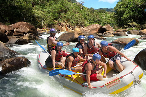 Paket 1 Day Tully White Water Rafting ex Cairns