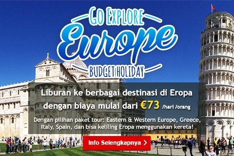 <p>Pilhan tour seru di seluruh Eropa dan atur sendiri perjalanan Anda dengan bebas kemanapun kapanpun!</p>