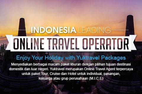 Menyediakan berbagai macam paket liburan dengan tujuan destinasi domestik dan luar negeri.  Yuktravel merupakan Online Travel Operator untuk paket Tour, Cruise dan Hotel untuk individual, pasangan, keluarga atau grup perusahaan (M.I.C.E)