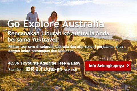 <p>Pilihan tour seru di seluruh Australia dan atur sendiri perjalanan Anda dengan bebas kemanapun kapanpun.</p>