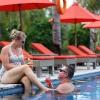 Romantic at Pool Hotel Ombak Sunset
